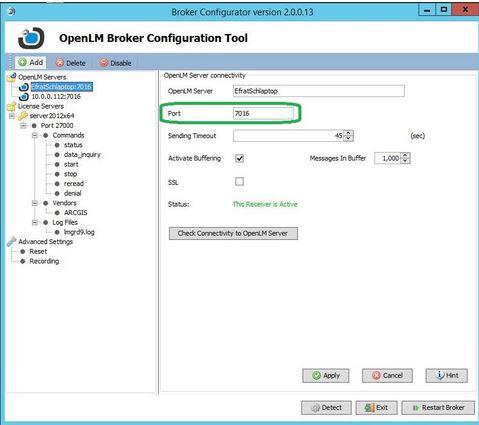 Port numbers in OpenLM - AN3017 - OpenLM Software License