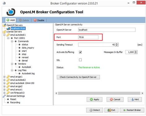 OpenLM Port numbers - AN4017 - OpenLM Software License