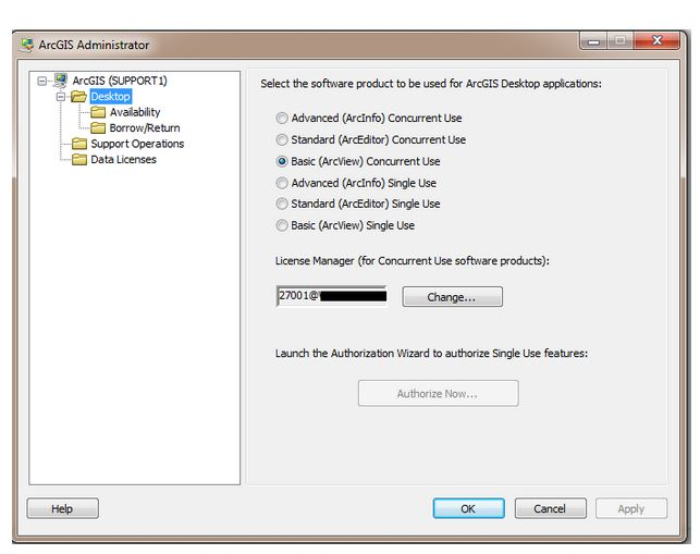 Installing the ESRI ArcGIS Administrator as a second License Manager