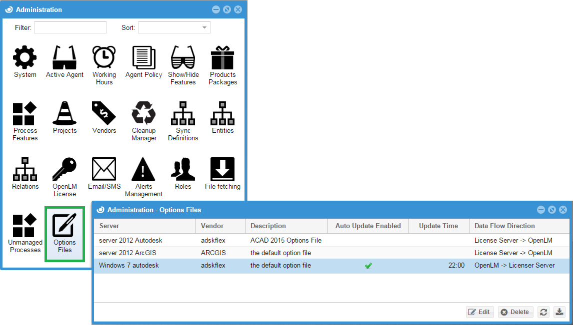 Options File management Using OpenLM EasyAdmin - AN4007