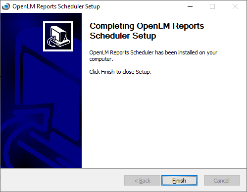 Completing OpenLM Reports Scheduler Setup