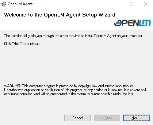 OpenLM Agent Installation V4 - OpenLM Software License