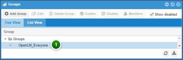 Adding groups in OpenLM User Interface