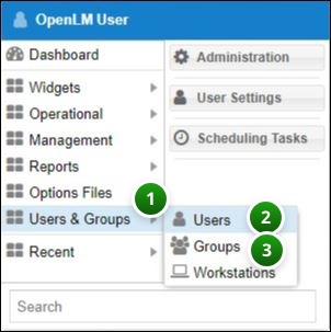 OpenLM Users and Groups