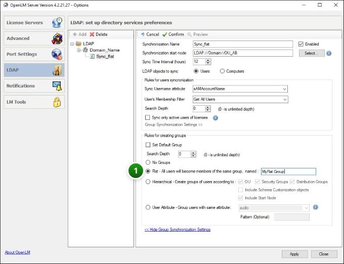 flat type OpenLM synchronization
