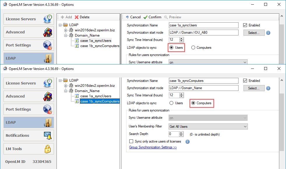 synchronization in OpenLM Server