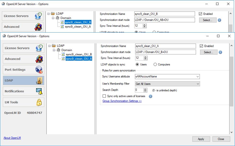 user cleanup in OpenLM Server