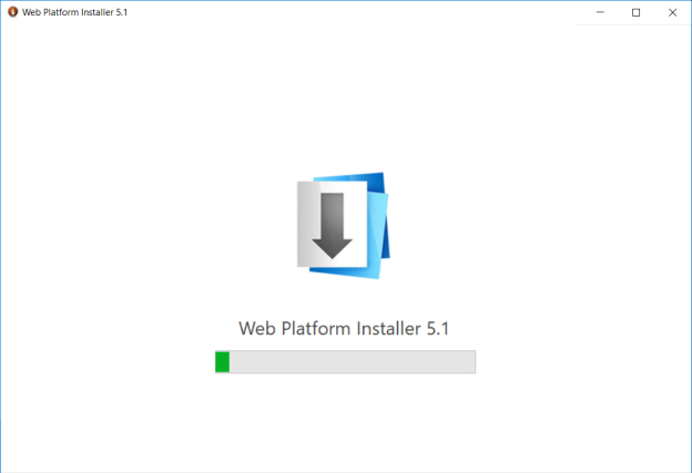 URL Rewrite installer start screen