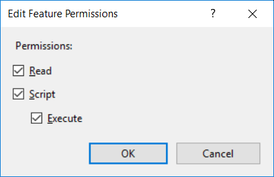 Feature permissions for enabling CGI