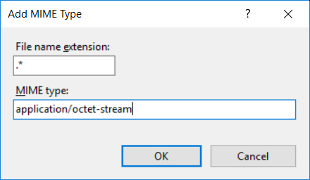 Adding an application/octet-stream MIME type