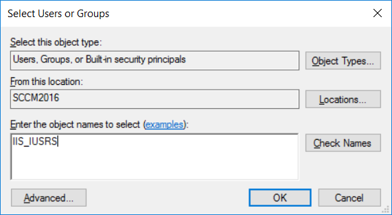 IIS_IUSRS object name for adding permissions