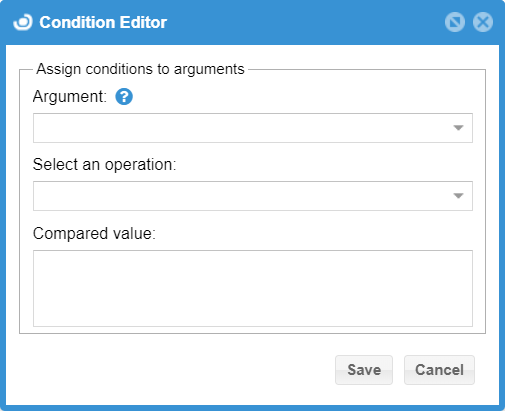 Condition Editor window