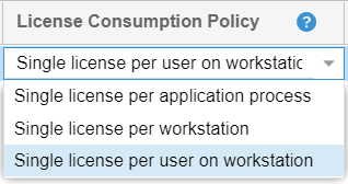 License Consumption Policy options