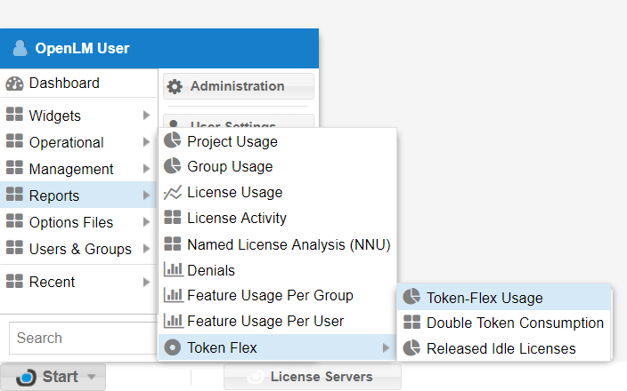Token Flex reports in EasyAdmin