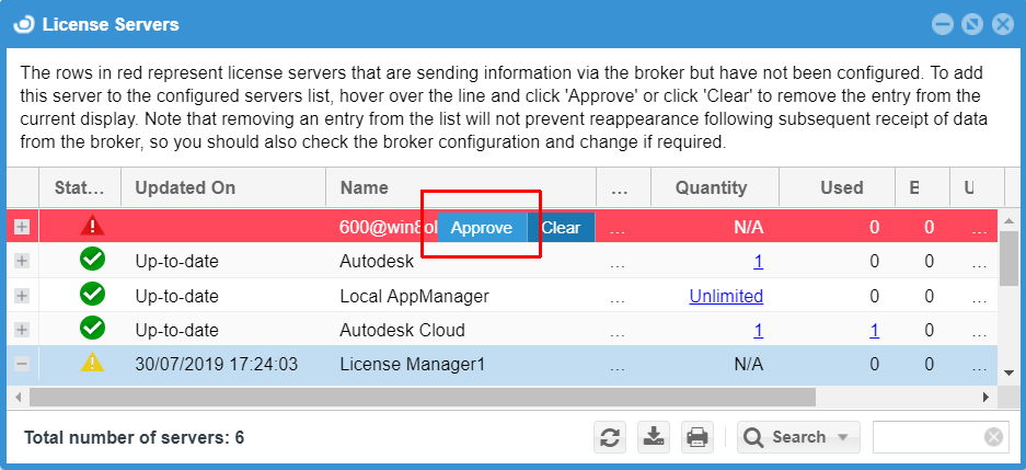 Approving Token Flex servers in the EasyAdmin interface
