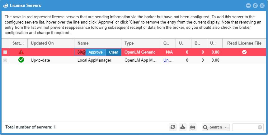 Approving OpenText license server in EasyAdmin