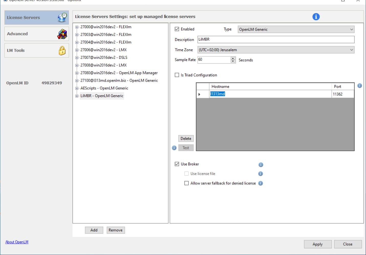 Manual OpenLM Server configuration