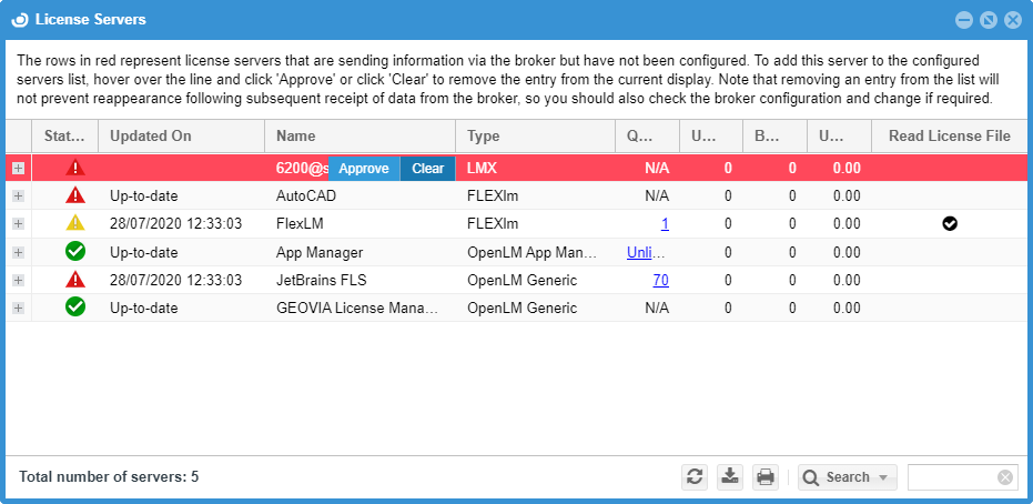 Approving the Altair License Server in EasyAdmin