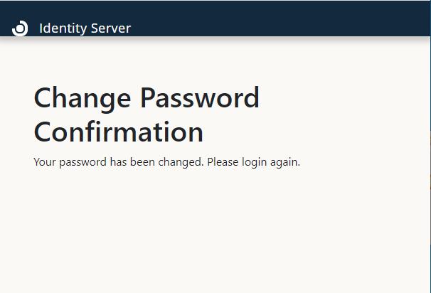 Change password confirmation prompt