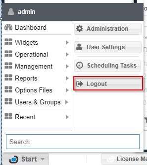 dashboard with login